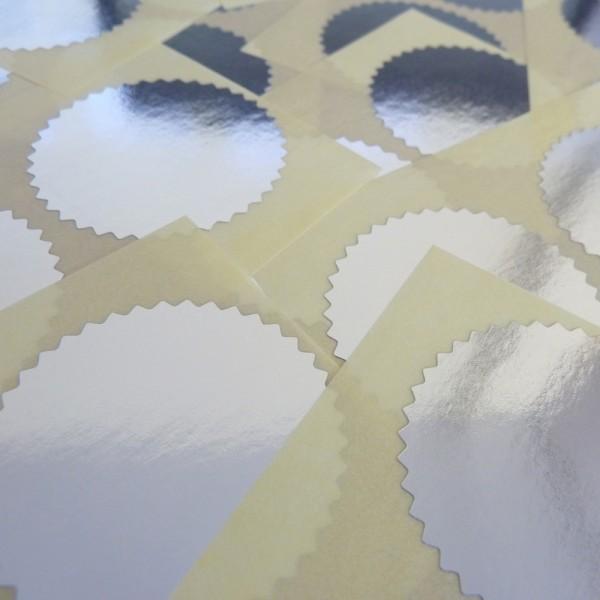 Notariszegel rol van 1000 stuks; diameter: 50 mm (zilver)