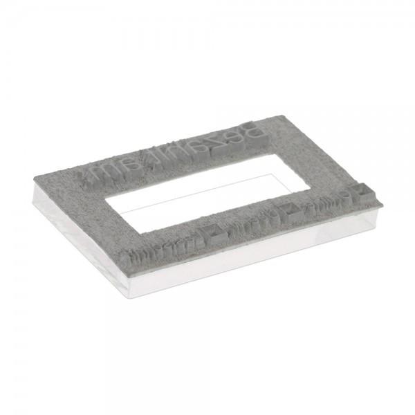 Tekstplaatje voor Printer 60 Dater rechts - 76x37 mm - 3 + 3 regels incl. reservekussen