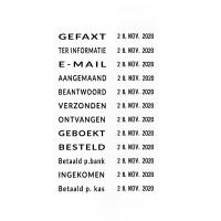 Trodat Professional datumstempel 5117 met woord band in het Nederlands
