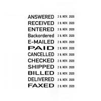Trodat Printy datumstempel 4817 met woord band in het Engels